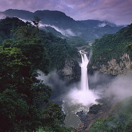 San Rafael Falls On The Quijos River by Pete Oxford
