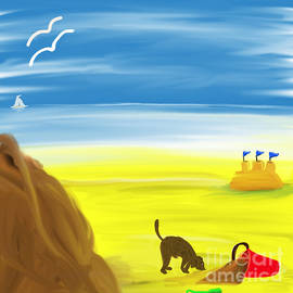 Sandcastles at the Seaside by Barefoot Bodeez Art