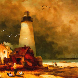 Lianne Schneider - Sandy Hook Lighthouse - after Moran