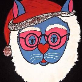 Santa Claws Cat by Stephanie Moore