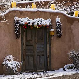 Santa Fe Style Southwestern Adobe Door by Dave Dilli