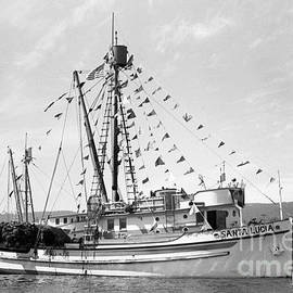 purse seiner Santa Lucia in Monterey Harbor by California Views Archives Mr Pat Hathaway Archives