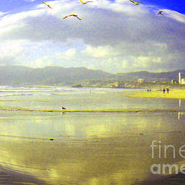 Santa Monica Beach by Jerome Stumphauzer