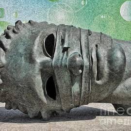 L Wright - Sculpture - Tilted Head Sculpture