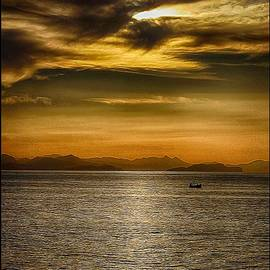 Sea and Sunset in Sicily by Stefano Senise