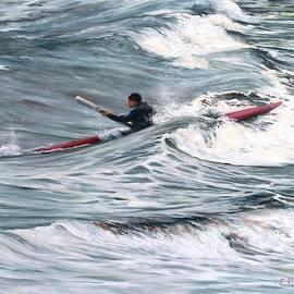 Sea Kayaking in Rockport MA by Eileen Patten Oliver