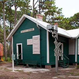Seaboard Railroad Depot Sulphur Springs Florida by John Black