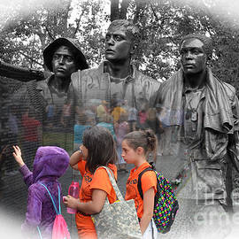 Jim Fitzpatrick - Searching a loved Ones Name on the Vietnam Veterans Memorial Altered Version II