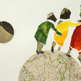 Helping each other in our way over the globe by Jolly Van der Velden