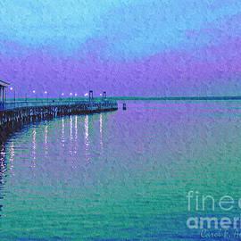 Painterly Seascape Purple Flurry by Carol F Austin