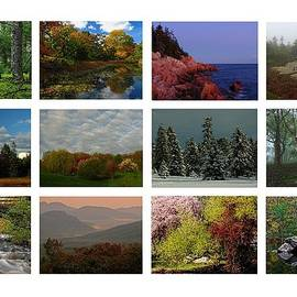 Seasonal Greetings From New England  by Juergen Roth