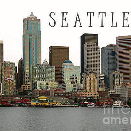 Seattle Ferry Piers Poster by Connie Fox