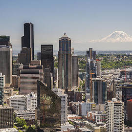 Seattle From The Space Needle by Lee Kirchhevel
