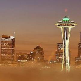 Benjamin Yeager - Seattle Morning Mist Panorama