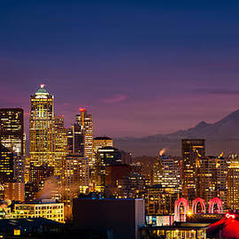 Seattle Sunset by Alexis Birkill