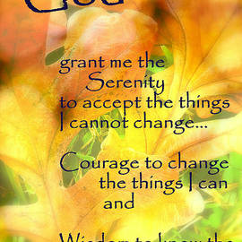 Ella Kaye Dickey - Serenity Prayer in Golden Leaves