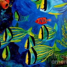 Julie Brugh Riffey - Serious Stripes - Colorful fish