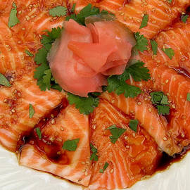Sesame Salmon Sashimi by James Temple