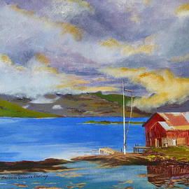 Seydisfjordur Boathouse by Barbara Ebeling