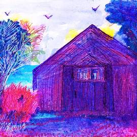 Anne-Elizabeth Whiteway - Shack and Trees by the Water