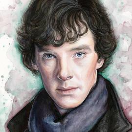 Sherlock Holmes Portrait Benedict Cumberbatch by Olga Shvartsur