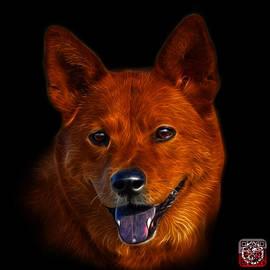Shiba Inu Dog Art - 8555 - Bb by James Ahn