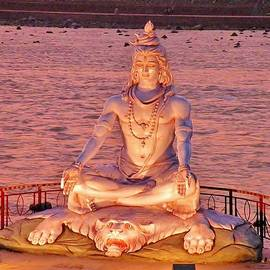Shiva Statue at Rishikesh India by Kim Bemis