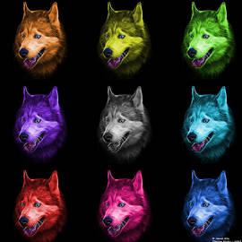Siberian Husky Dog Art - 6062 - Bb - M by James Ahn