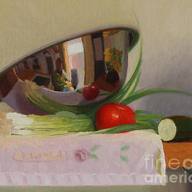 Charmaine P Jackson - Silver Bowl and Fresh Produce