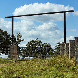 Simple Texas Ranch Gate by Linda Phelps