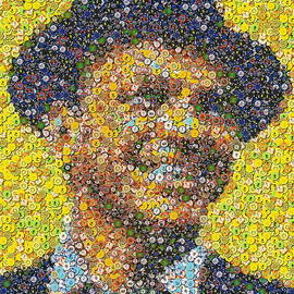 Paul Van Scott - Sinatra Poker Chip Mosaic