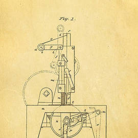 Singer Sewing Machine Patent Art 1851  by Ian Monk