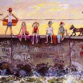 Sitting on the Sea Wall by Rita Brown