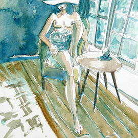 Fabrizio Cassetta - SITTING WOMAN with HAT