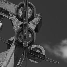 Maine - Old Skilift pulleys by Steven Ralser