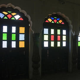 SKN 1250 Doors with Colored Glass by Sunil Kapadia