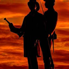Michael Mazaika - Sky Fire - 73rd NY Infantry Fourth Excelsior Second Fire Zouaves-B1 Sunrise Autumn Gettysburg