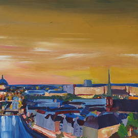 M Bleichner - Skyline of Berlin at Sunset