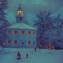 Jeff Folger - Sledding at the old round church