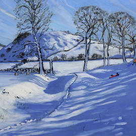 Andrew Macara - Sledging  Derbyshire Peak District