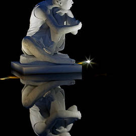 Slene Moon Goddess At Night by Jerry Gammon