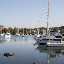 Small harbor at Woods Hole on Cape Cod. Massachusetts