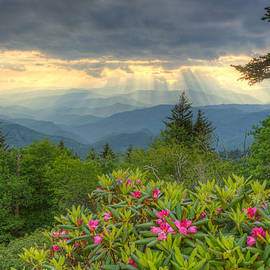 Spring Sunset - Great Smoky Mountains by Doug McPherson