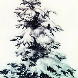 Snow Covered Spruce by Teresa Ascone