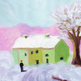Snow in Landscape by Arlene Babad
