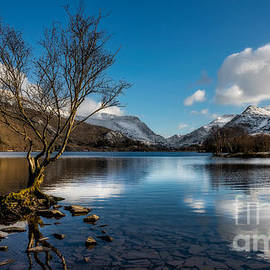 Snowdon And Padarn Lake by Adrian Evans
