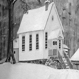 Jan Dappen - Snowy Gates Chapel -White Church - Portrait view