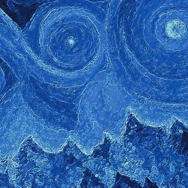 First Star Art - Snowy  Night by jrr