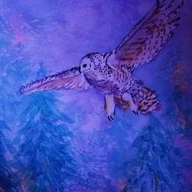 Snowy Owl  - Juvenille - Close Cropped by Ellen Levinson