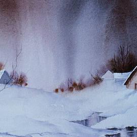 Snowy Village by Teresa Ascone